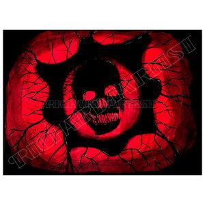 NWT Gears of War Skull Art Decor PRINT Gamer Dark